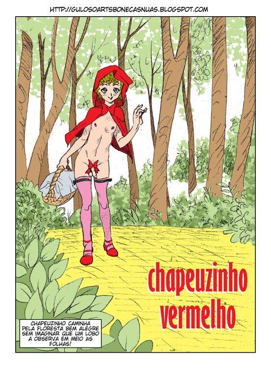 Chapeuzinho Vermelho zoofilia com travesti