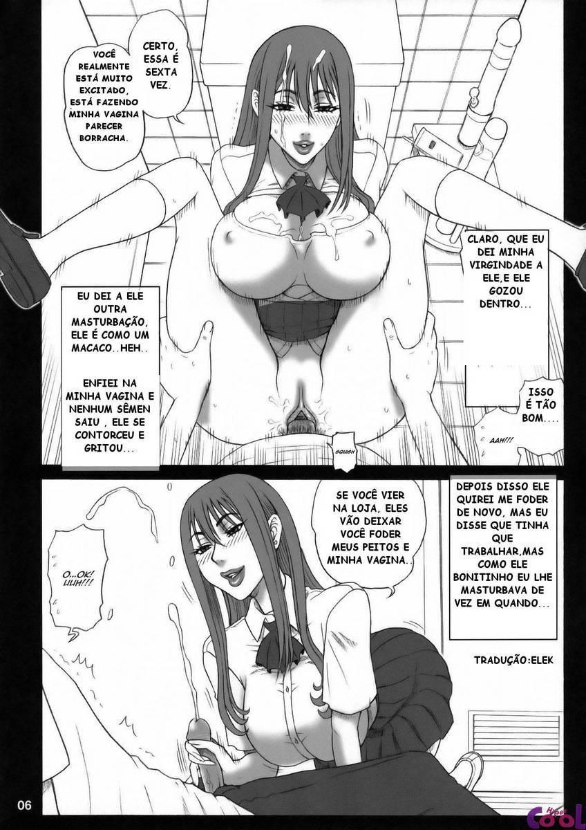 Novinha putinha no banheiro, Hentai