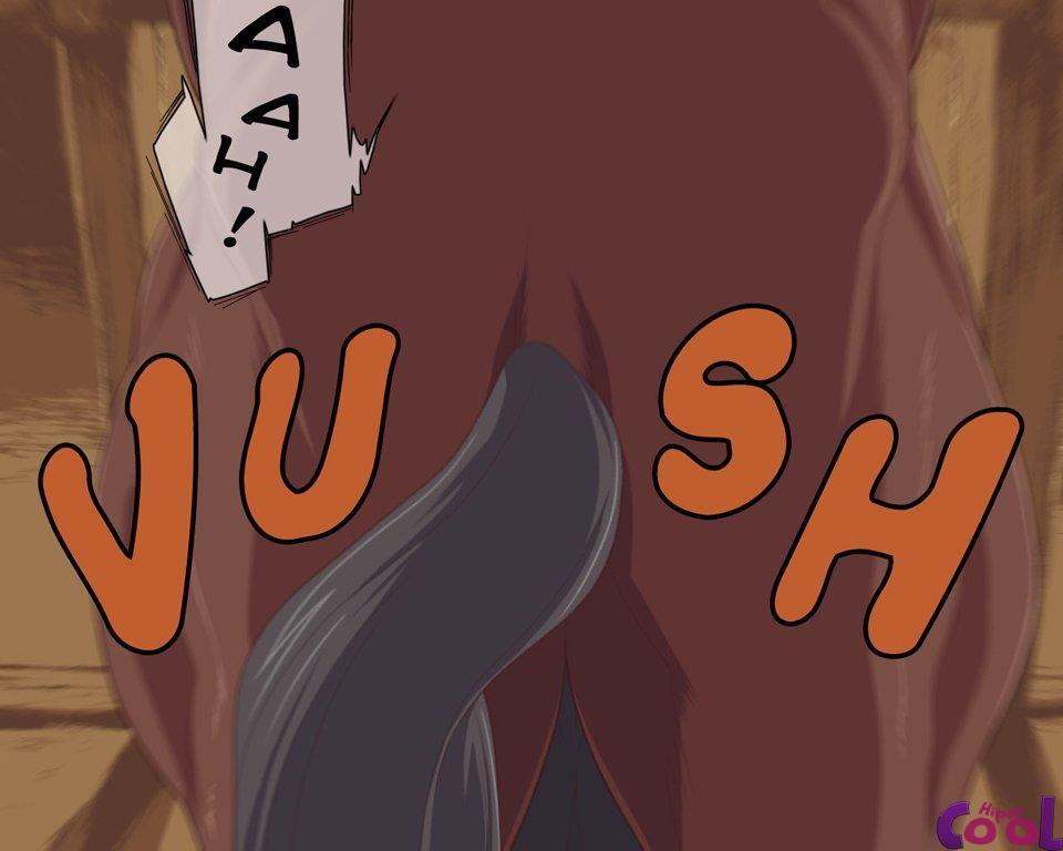 Hentai transando com o cavalo