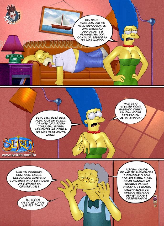 O fugitivo errante 01 - Simpsons